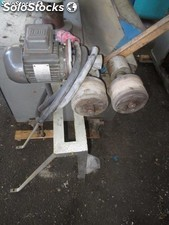 Two pinch rollers with gear motors 0.5hp