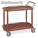 Two-shelf trolley - mod. 6050 - solid wood structure - n. 2 plywood shelves -