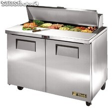 UK : True Salad Prep Counter 2 doors 12x1/6 GN pan top