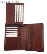 Uni Wallet Brown Vegetable Tanned Cowhide