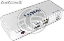 Uniclass kvm Switch hdmi audio USB2 1KVM to 2CPU (UM63)