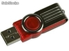 Unidad Flash usb 2.0 Kingston DataTraveler 101 de 8gb. Color Rojo