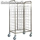 Universal tray rack trolley - mod. ca1465 - stainless steel structure -