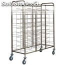 Universal tray rack trolley - mod. ca1475 - stainless steel structure -