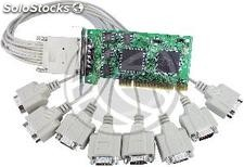 Upci card Series 16C950 flex-atx VScom (8S 8xDB9 Cable) (TS17)