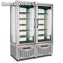 Upright display fridge - mod. tutto show p 800 - capacity lt. 420 + lt 420 -