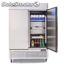 Upright fridge - stainless steel - mod. mbl8960 - ventilated cooling -