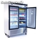 Upright fridge - stainless steel - mod. mcf8703 - ventilated cooling - capacity