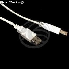 Usb 2.0 ab Cable 2m white male (UR33)