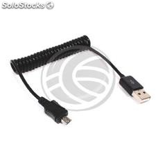Usb 2.0 Cable (am/MicroUSB-m Type b) 1m curly (US80)