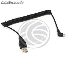 Usb 2.0 Cable (Type b layered am/MiniUSB5pin-m) 1m curly (UW35)