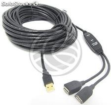 Usb 2.0 Extension Cable am -> 2xAH (10m) (UA07)