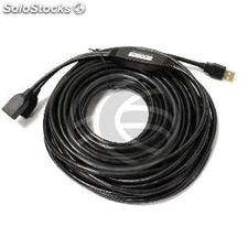 Usb 2.0 Extension Cable am to 2 ah powered 15m (UA08-0003)