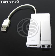 Usb 2.0 to Fast Ethernet and 4 usb hub 100Mb white (RA13-0002)