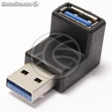 USB 3.0 A male adapter A female angle (UY00)