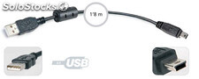 Usb a macho - Mini usb b 5 pines macho fonestar 7846