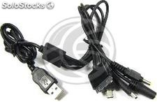 Usb Charger Cable 5-in-1 (NDSi iPod psp and dc-Jack MiniUSB 3.5) (AA82)
