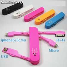 Usb Datos Carga Macho a Micro usb Plano Macho para Móvil y Ipad etc