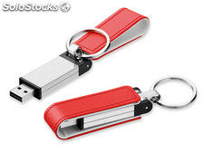 Usb Flash 46, Usb Metalico Con Funda Imitacion Pie