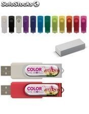 Usb flash drive twister with doming 4gb