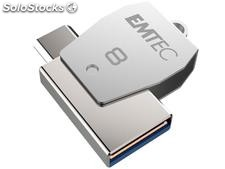Usb FlashDrive 8GB emtec 2in1 Dual micro-usb T250 chrom
