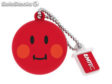 Usb FlashDrive 8GB emtec SmileyWorld -Shame- (Rot)