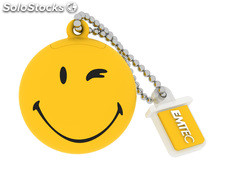 Usb FlashDrive 8GB emtec SmileyWorld -Take it easy- (Gelb)
