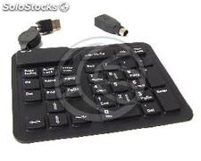 USB Flexible Numeric Keypad 33-key black and (KF85-0002)