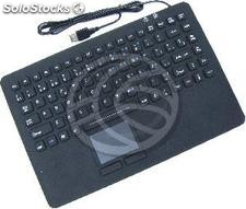 USB Industrial Keyboard with 87 keys and black mousepad (KF71)