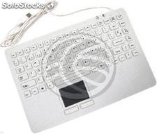 USB Industrial Keyboard with 87 keys and white mousepad (KF72)