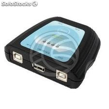 USB interruptor manual 4 computadores a 1 porta USB (SW49-0002)