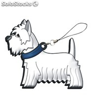 USB Perro West Highland PVC Soft Memoria USB de mascotas y animales divertidos