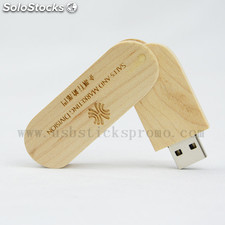USB Stick Holz Swivel mit Gravur- USB Stick Holz Swivel- USB Stick mit Gravur- G