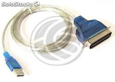 USB to parallel port (Centronics 36 male to male) (US21-0002)