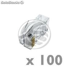 UTP connector Cat.5e RJ45 male to crimp cable 100-pack (RH03)