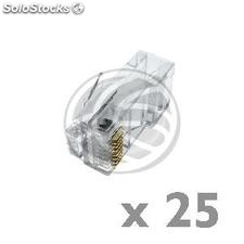 UTP connector Cat.5e RJ45 male to crimp cable 25-pack (RH02)