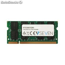 V7 - 1GB DDR2 PC2-5300 667Mhz so dimm Notebook módulo de memoria - V753001GBS