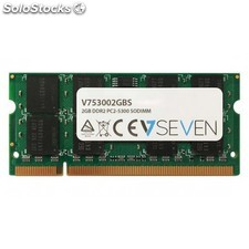 V7 - 2GB DDR2 PC2-5300 667Mhz so dimm Notebook módulo de memoria - V753002GBS