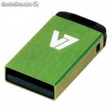 V7 - Unidad de memoria flash USB 2.0 nano 4 GB, verde