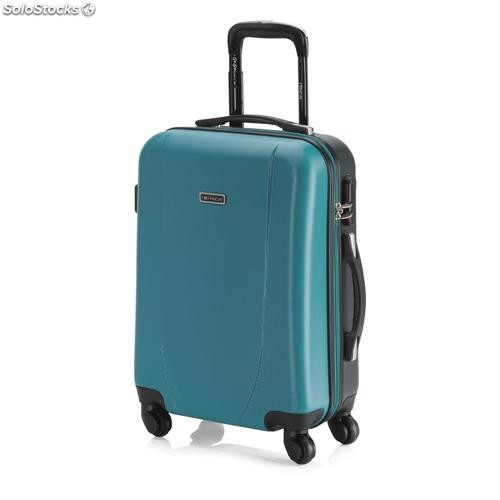 Valigia trolley da cabina bicolor abs Turchese / antracite