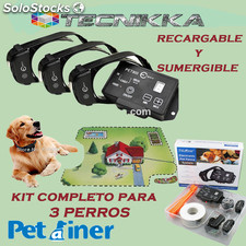 Vallado invisible PET803 Petrainer original. Pastor electrico para 3 perros