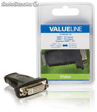 Valueline Adaptador HDMI hembra - DVI hembra, color negro, para señal digital,