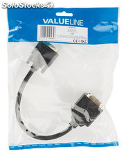 Valueline Cable adaptador DVI-I 24+5-pines macho - hembra + VGA hembra de 0,20 m