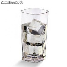 "Vaso 372 ml ""square base"" transparente policarbonato"
