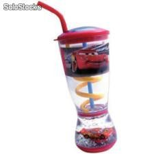 Vaso con Caña Bubbler Disney Cars