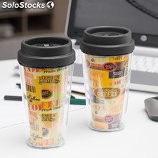 Vaso con Tapa y Doble Pared Coffee Gadget and Gifts