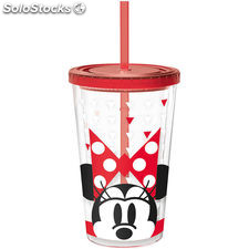 Vaso Minnie Disney doble pared pajita