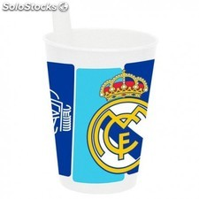 Vaso Real Madrid Con Pajita