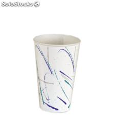 "Vaso ""volare"" 16 oz. - 480 ml 9x12,9 cm blanco cartoncillo"