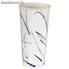 "Vaso ""volare"" 22 oz. - 660 ml 9x17 cm blanco cartoncillo"